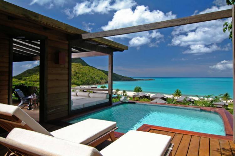 of the villas and cottages at GoldenEye come with private porches with views of the lagoon or the Caribbean