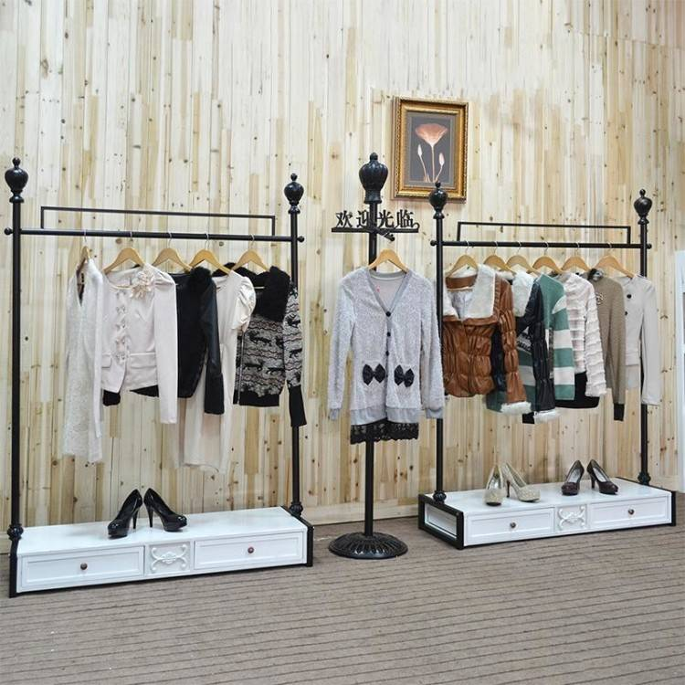 Wrought Iron Clothes Rack, Clothing Display Shelf Floor Racks Display Shelf  Clothing Props S Hook Hanging Hook Wedding Dress Aircraft Wrought Iron  Clothes