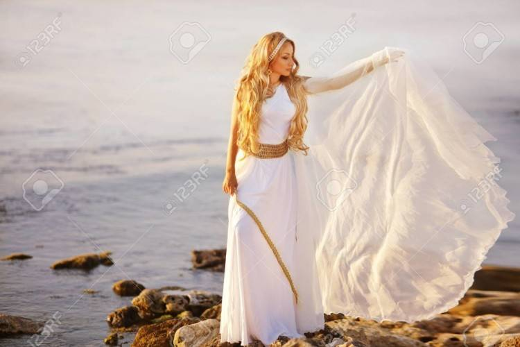 Greek Goddess Style Lace Wedding Dresses With Ribbon One Shoulder Handmade  Flowers Garden Wedding Gowns Summer Beach Wedding Dress Cheap Low Back  Wedding