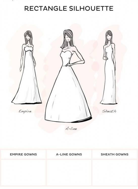 Wedding dress for body type