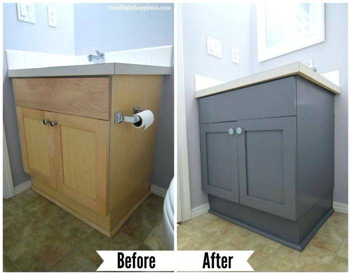 bathroom oak cabinets