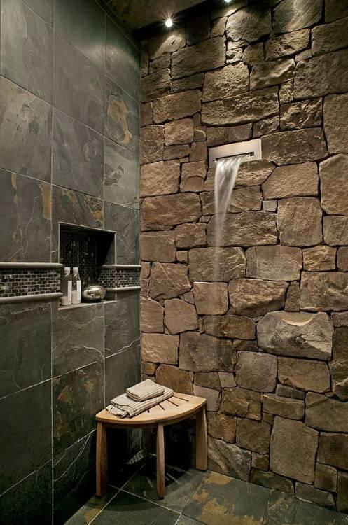 pebble stone tile bathroom ideas