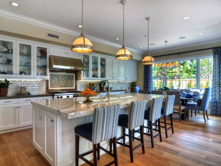 open plan living dining room open concept  kitchen
