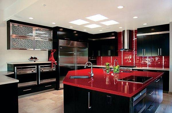 red and white kitchen black and red kitchen designs awesome design red  black and white kitchen