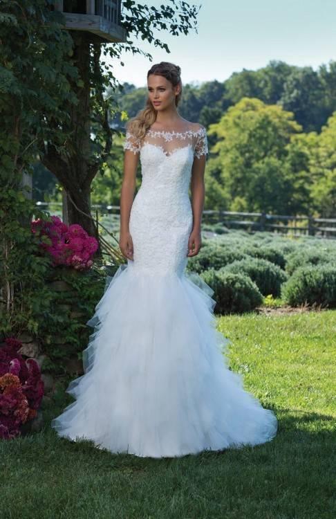 Allure Bridals details each dress with unique features by