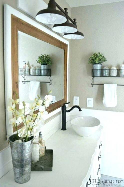 farmhouse  bathroom lighting ideas