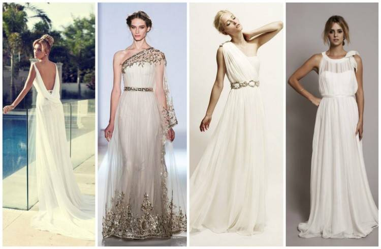 A recent trend for brides across America and on the runway is the goddess  style