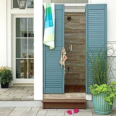 i l o v e outdoor beach showers shower house