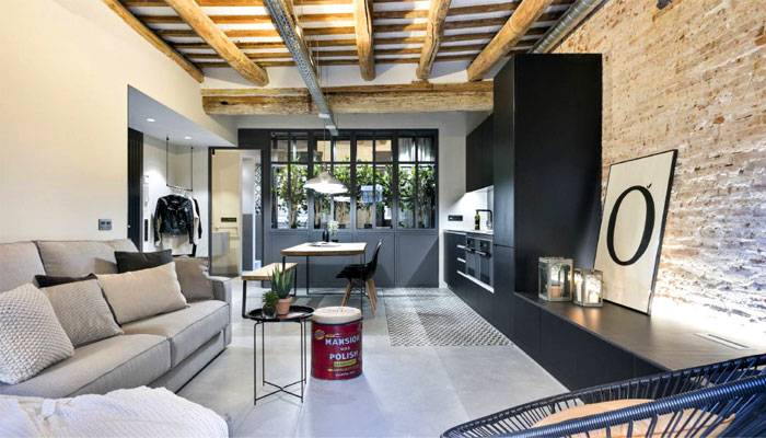 The idea of an open concept kitchen