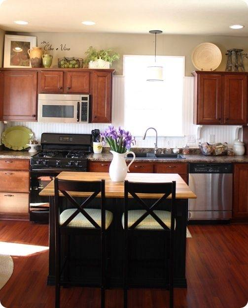 home decor decorating above the kitchen  cabinets