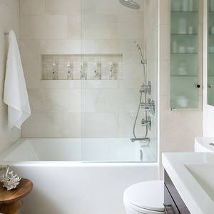 Attractive Modern Grey Bathroom Ideas With Rectangle Standart Tub Also White Toilet As