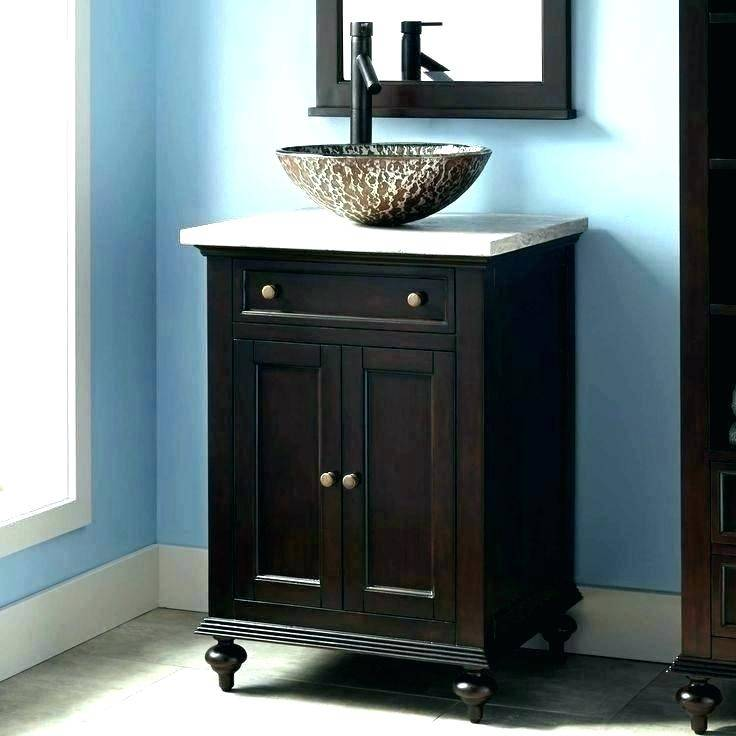 Enjoyable Sink Diy Vanity Rustic Bathroom Ideas Ry Rustic Design Idea Vessel Sink Plus Wall Mirror Diy Bathroom Vanity Ideas Glass Door Shower Room