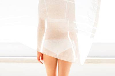 This is a trend for the bold – leave a bit of lace peeking out here and there or show off the cheeky