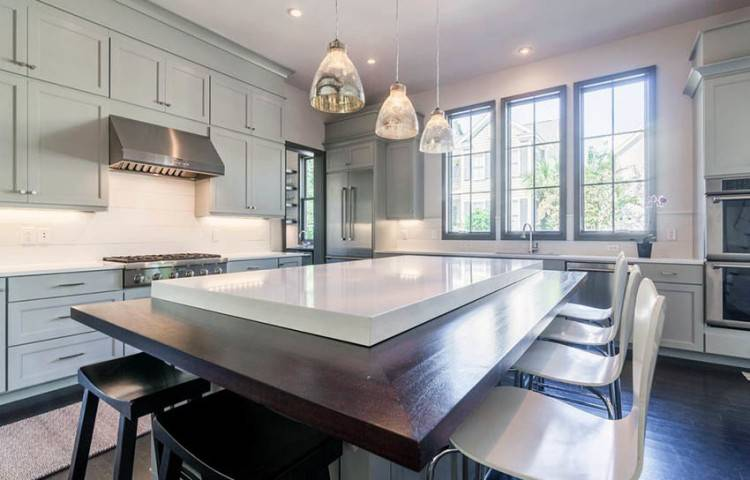 Cherry Kitchen Decor Cherry Kitchen Cabinets With Gray Wall And Quartz Ideas Tags Cherry Kitchen Accessories Decor Cherry Kitchen Cabinet Ideas Cherry
