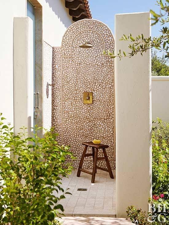 Copper Outdoor Shower; Copper Outdoor Shower
