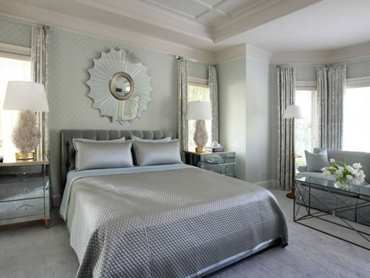 bedroom ideas blue and silver
