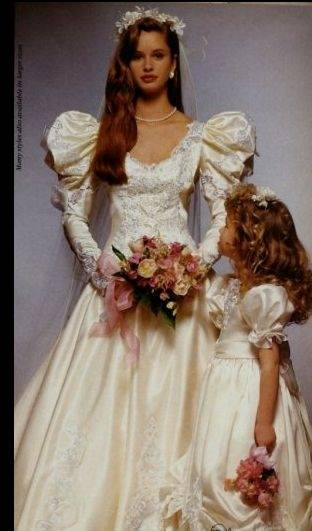 Vintage 1980s Wedding Gown sz