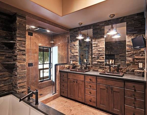 stone bathroom ideas rustic bathroom ideas with stone wall decorations ideas  extraordinary rustic bathroom design ideas