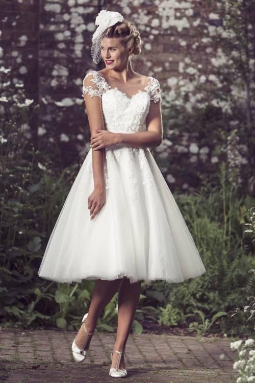 Classic Dame Ivory Matte Satin 50s Style Wedding Dress