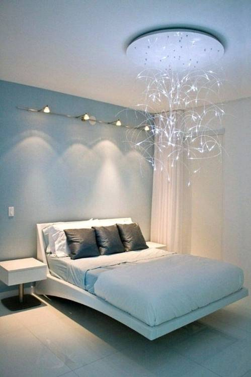 White Drum Shade Hanging Light Over Full Size White Bed And Brown Cover Also Wooden Shade Large Window Treatment