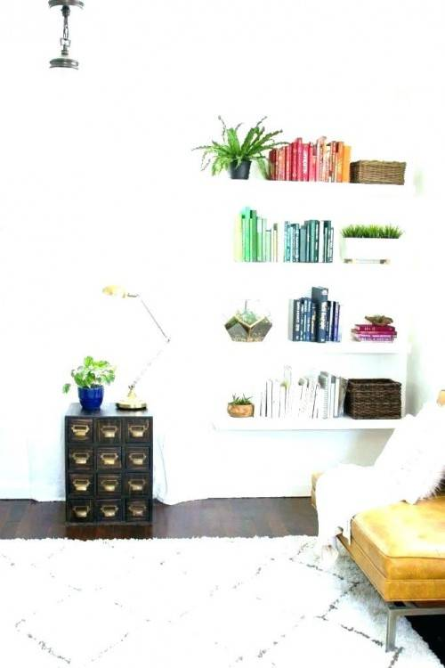 floating shelves in bedroom ideas sleek floating shelves bed kids room home art decor throughout wall