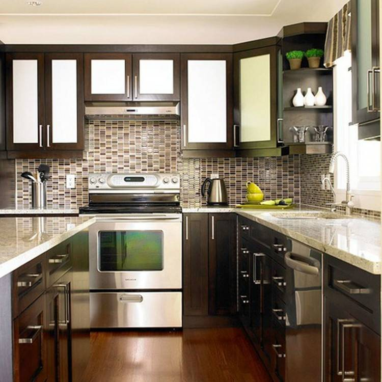 Kitchen with black stainless appliances
