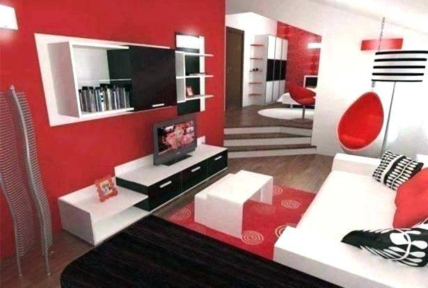 red white and black bedroom ideas