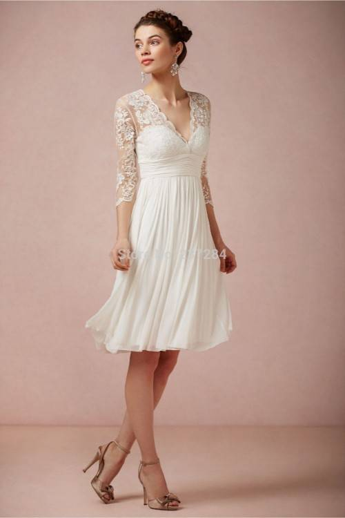 We love how short wedding dresses can create a totally different bridal look