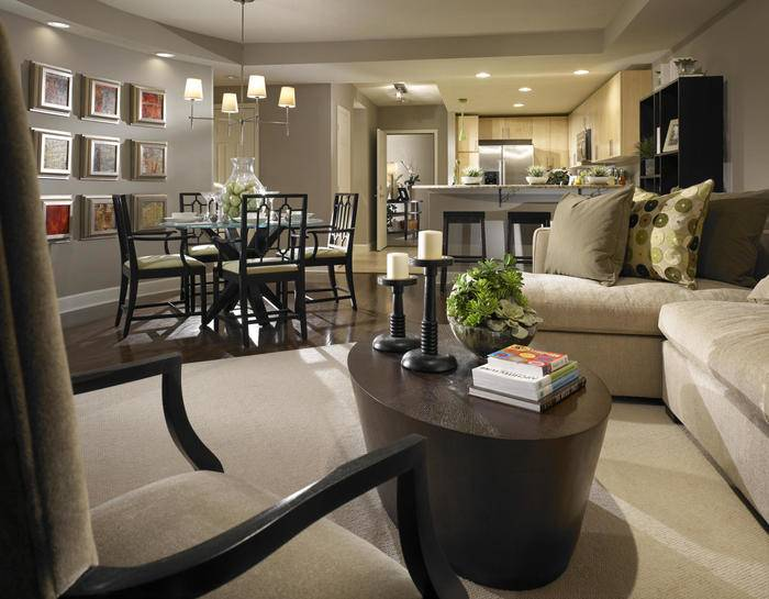 l shaped living dining room furniture layout