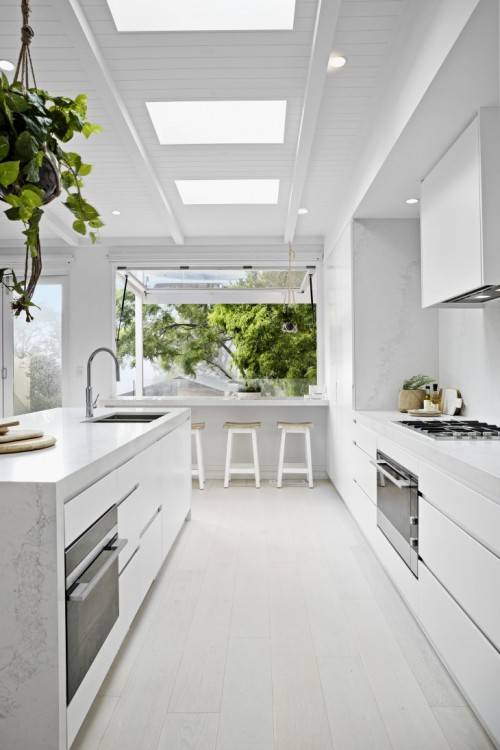 AFTER: The kitchen is fresh and modern