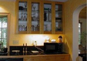 Without upper cabinets, deciding where to end the backsplash is entirely up to you