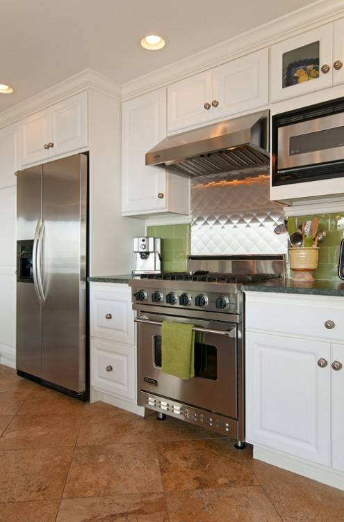Luxury White Kitchen Cabinets With Black Stainless Steel Appliances With Regard To White Cabinets With Stainless Steel Appliances Ideas
