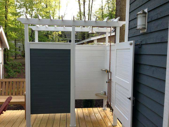 best outdoor showers ideas on pool shower enclosure stall kits kit  bathrooms with shiplap and tile