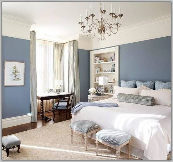 Beautiful master bedroom with a relaxed Scandinavian style and pops of color [Design: Cornish