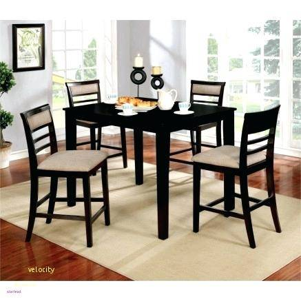 dark wood dining room table with white chairs signature design by brown shop