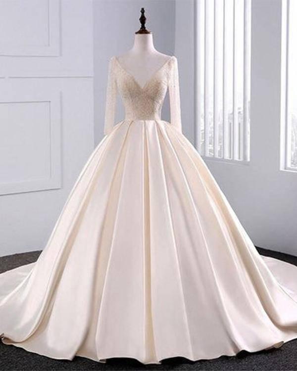 Elegant Sexy Mermaid Wedding Dresses 2017 Embroidery Lace Pearls Wedding Gowns Watteau Long Train Bridal Dresses Vestido De Noiva Sereia Simple Mermaid