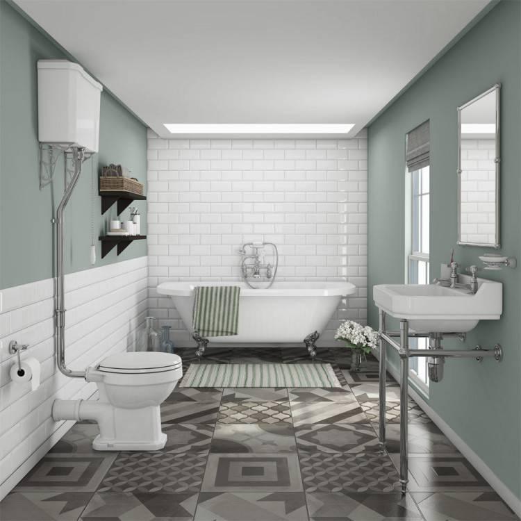 small bathroom, small clawfoot