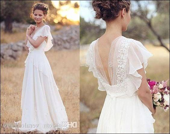 vestidos de noiva curto 2016 bohemian Hippie style Lace Short Wedding Dress  For Bride With Long Sleeves robe de mariage in Welcome to Suzhou Babyonline