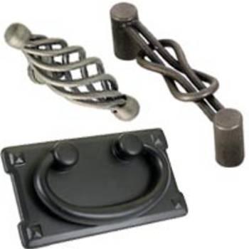 External hardware like knobs, pulls
