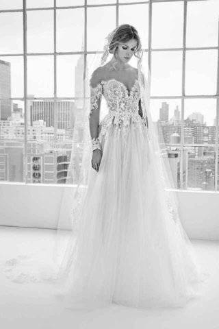 wedding dress trends 2019 megan markle style halter dress crepe