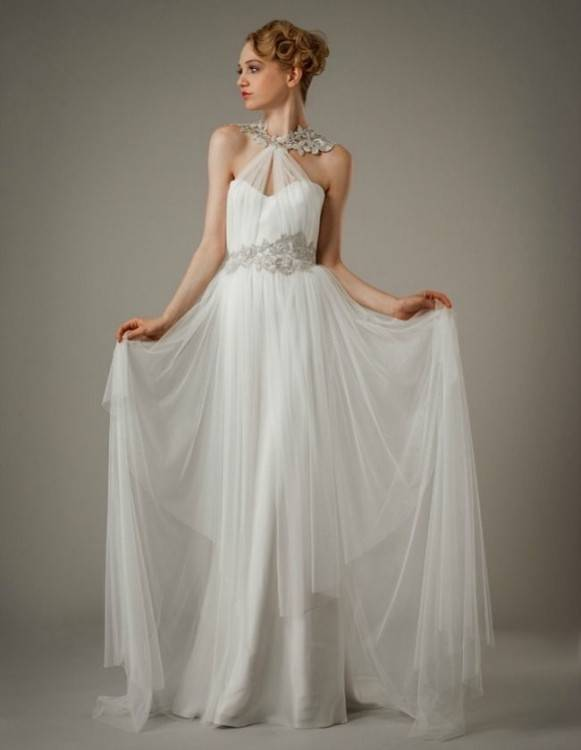 Discount Bohemia Greek Beach Wedding Dresses 2017 Greek Style A Line  Spaghetti Straps Vintage Lace With Illusion Long Sleeve Boho Bridal Gowns  Cheap A Line