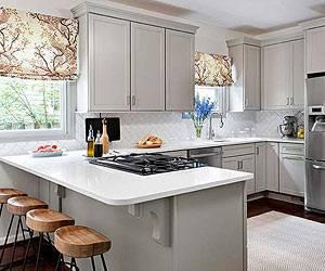 Cozinha com abertura parcial mas mesmo assim continua com integração com a sala