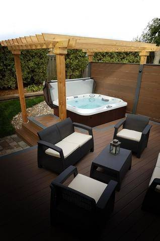 21 landscaping outdoor living spaces with hot tubs style motivation rh stylemotivation com outdoor living hot tubs hull alfresco life hot tubs & outdoor