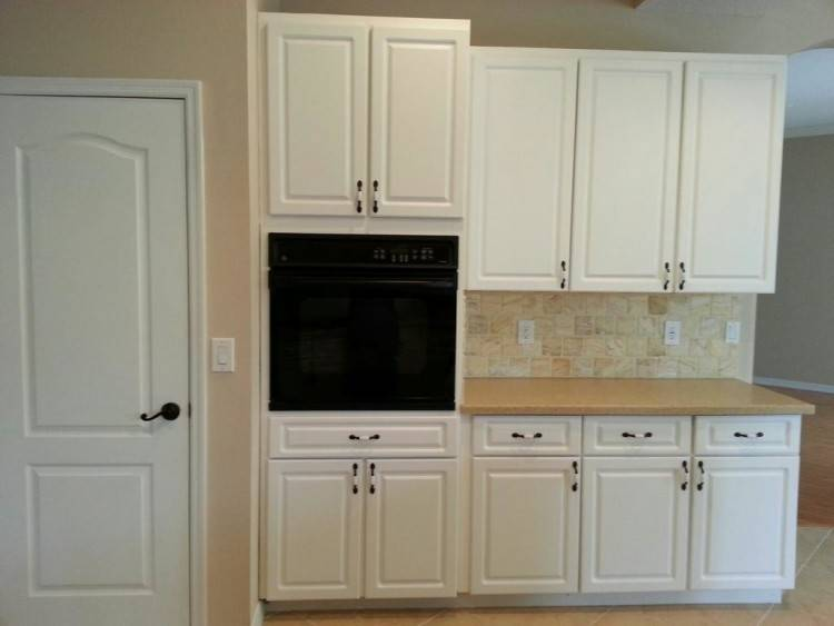 In an accessible kitchen, cabinets can be  hung at 15″