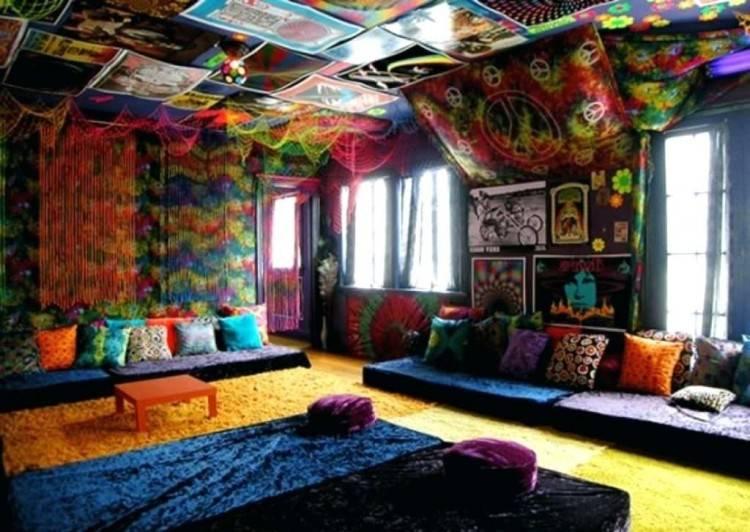 bohemian blue bedroom ideas hippie