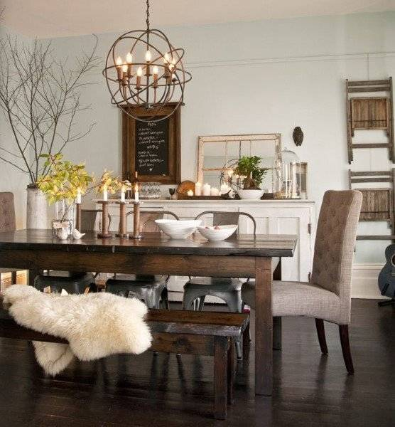 large dining room spaces with pub style sets and vintage table wooden leg chairs white fabric