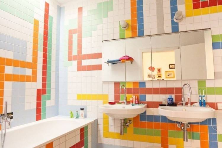 brown bathroom decor orange and blue design amazing red