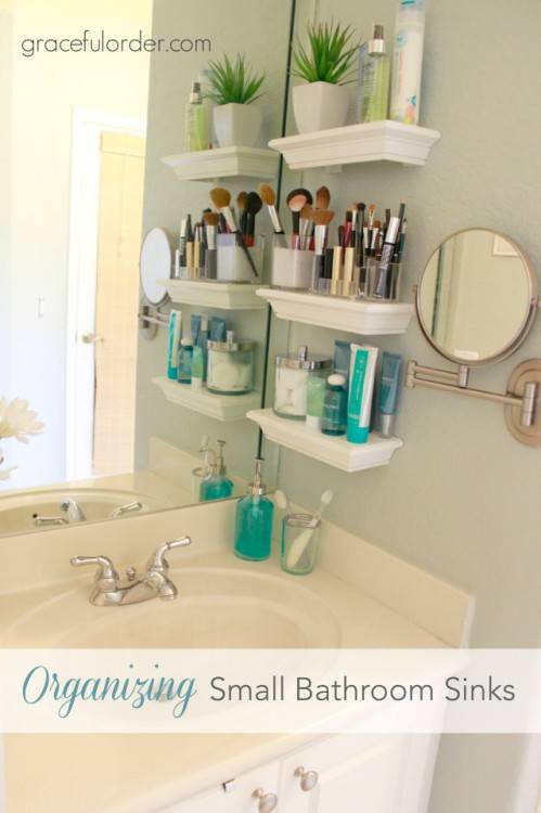 Inexpensive and simple design and organization ideas for a small bathroom