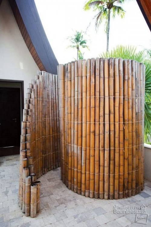 The ideal location for an exterior shower offers both privacy and easy  access from the home