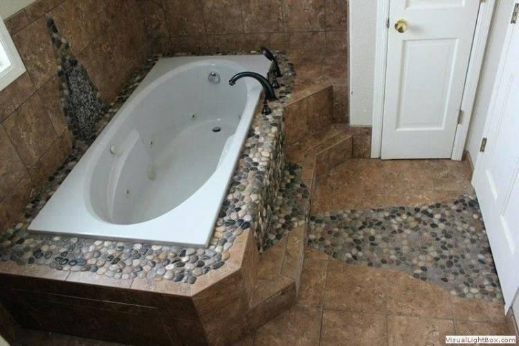 rock tile bathroom
